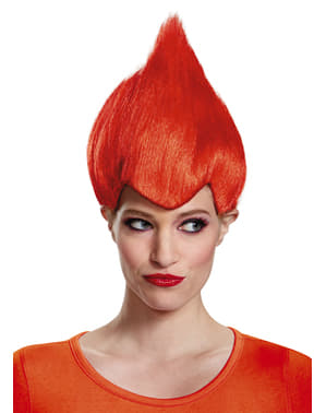 Trolls red wig for adults