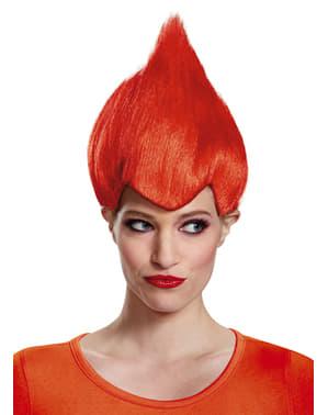 Trolls rød paryk til voksne