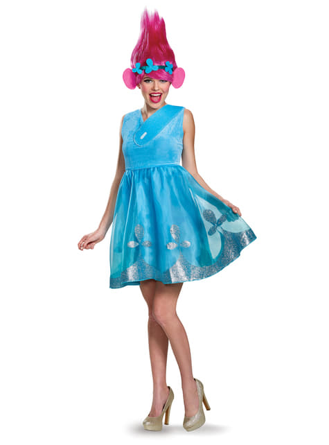 Deluxe Poppy Trolls costume for women