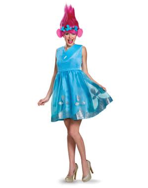 Deluxe Poppy Trolls kostyme for dame