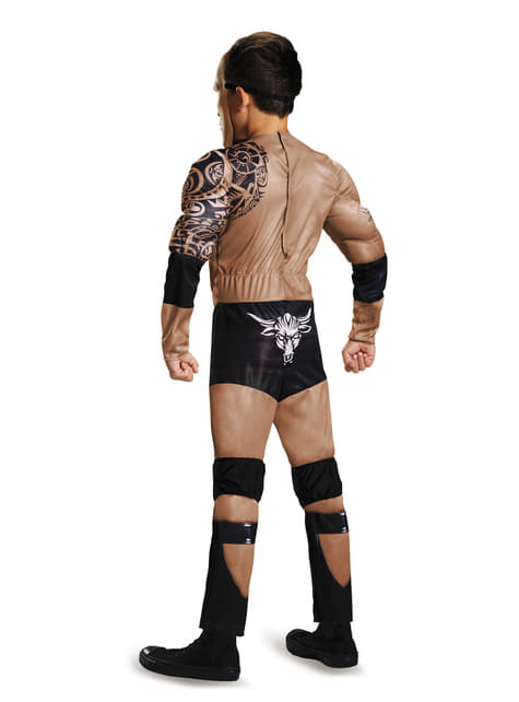 The Rock WWE muscular costume for a child