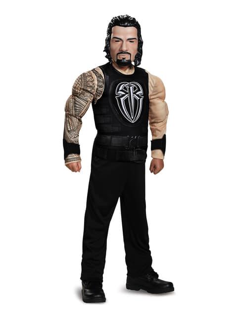 Fato de Roman Reigns WWE musculoso para menino