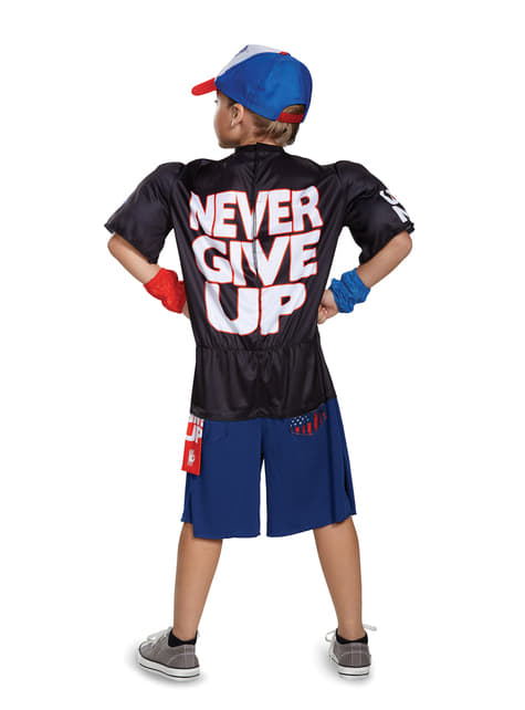 John Cena Never Give Up WWE muscular costume for Kids