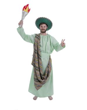 Disfraz de estatua de la libertad mexicana para adulto