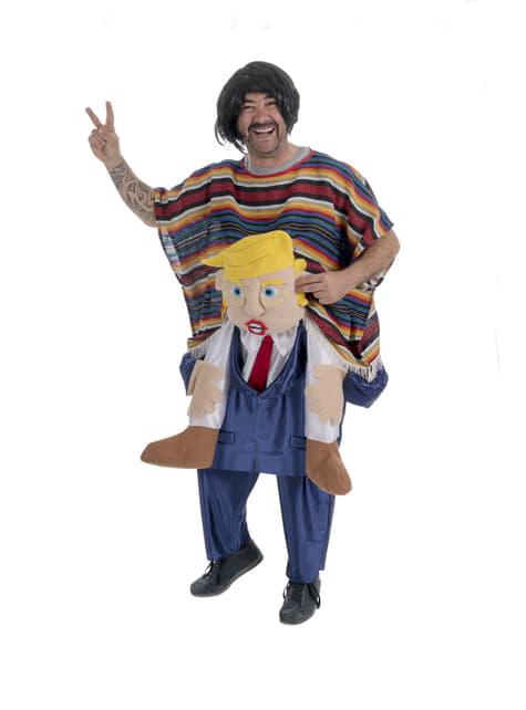 Disfraz de mexicano sobre Trump ride on para adulto