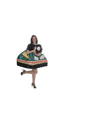 Costume da macchina autoscontro verde per adulto
