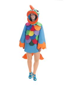 Disfraz de pez con escamas multicolor para adulto