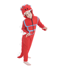Disfraz de dinosaurio adorable rojo infantil