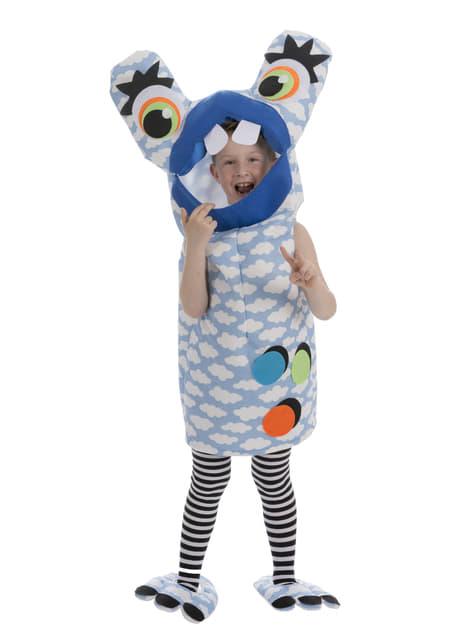 Disfraz de monstruo loco azul para niño