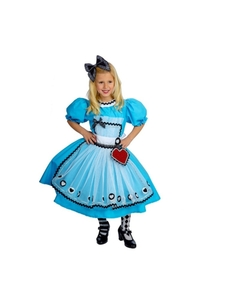 Girls' blue Alice in Wonderland costume