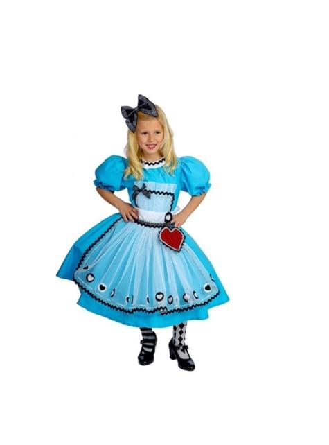 Alice kostuum blauw wonderbaarlijk voor meisjes