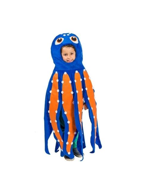 Blauw en oranje octopus kostuum voor kinderen
