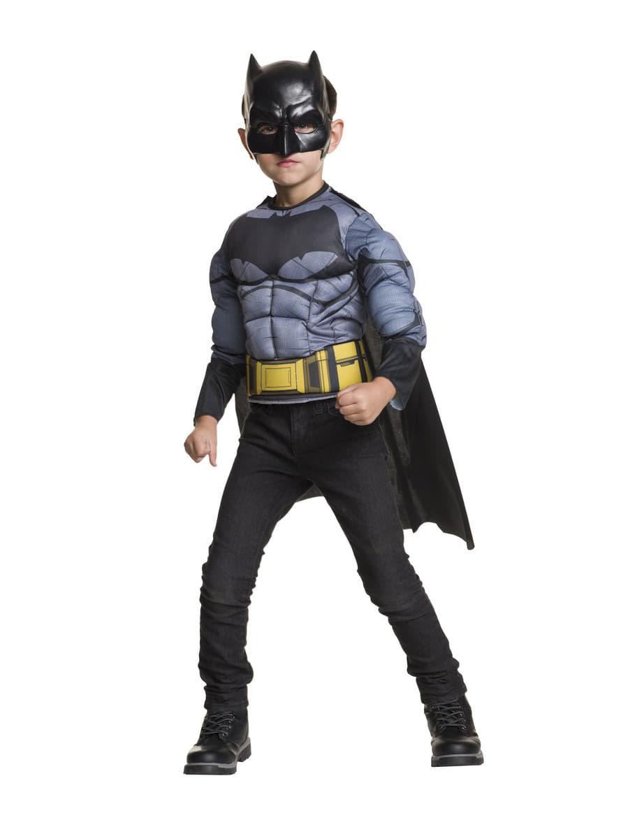 costume batman muscl batman vs superman enfant funidelia. Black Bedroom Furniture Sets. Home Design Ideas