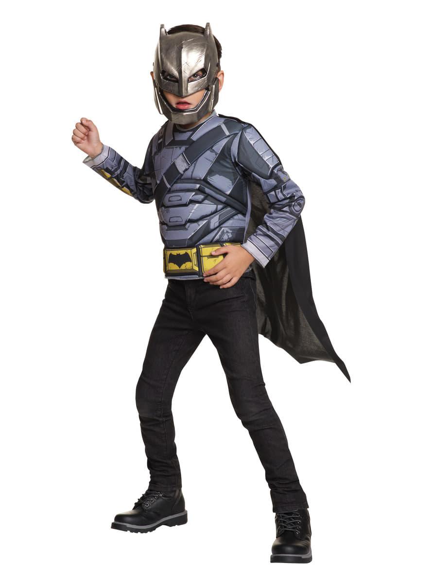 costume batman cuirass batman vs superman enfant funidelia. Black Bedroom Furniture Sets. Home Design Ideas