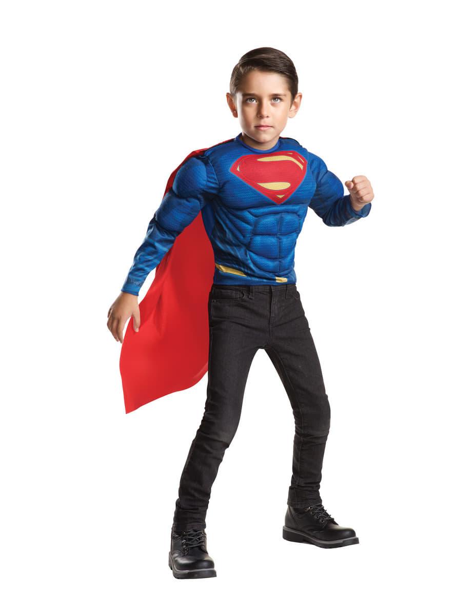 muskul ses superman kost m f r jungen batman vs superman funidelia. Black Bedroom Furniture Sets. Home Design Ideas