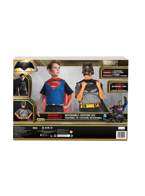 Disfraz reversible de Batman vs Superman para niño - Halloween