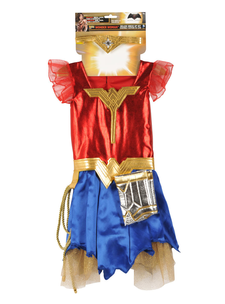 Batman vs Superman Deluxe Wonder Woman costume for girls  sc 1 st  Funidelia : superman and wonderwoman costumes  - Germanpascual.Com