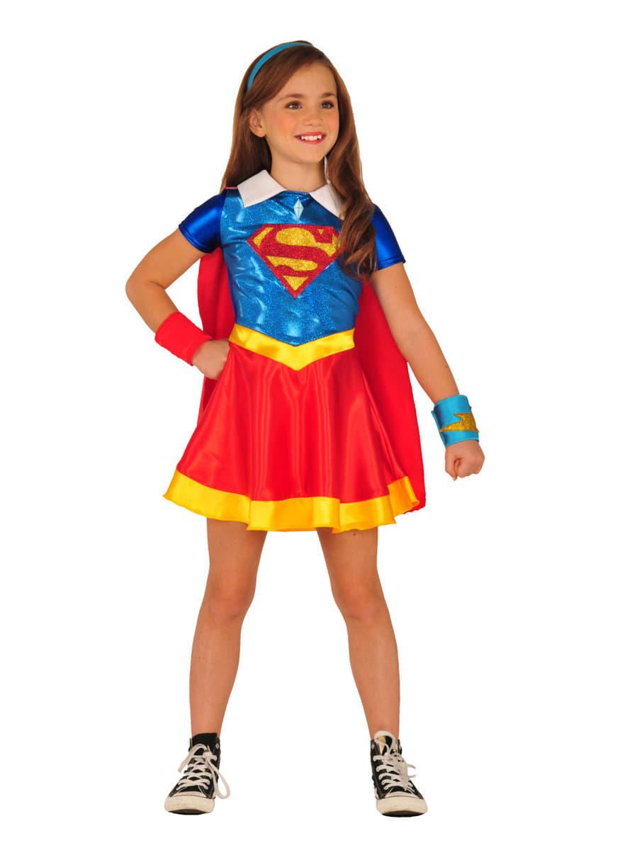 Costume supergirl dc super hero girls fille les plus amusants funidelia - Image super heros fille ...