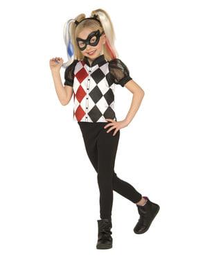 Costum Harley Quinn DC Super Hero Girls classic pentru fată