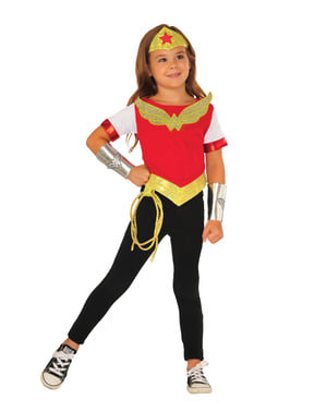 Kit Fato de Wonder Woman DC Super Hero Girls para menina