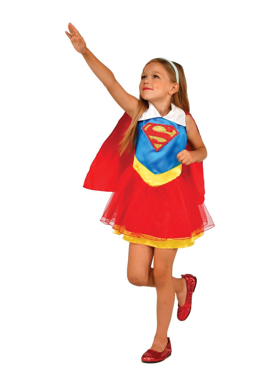 d guisement supergirl dc super hero girls classique fille funidelia. Black Bedroom Furniture Sets. Home Design Ideas