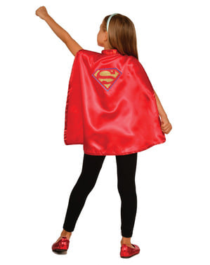 Kit costum Supergirl DC Super Hero Girls pentru fată