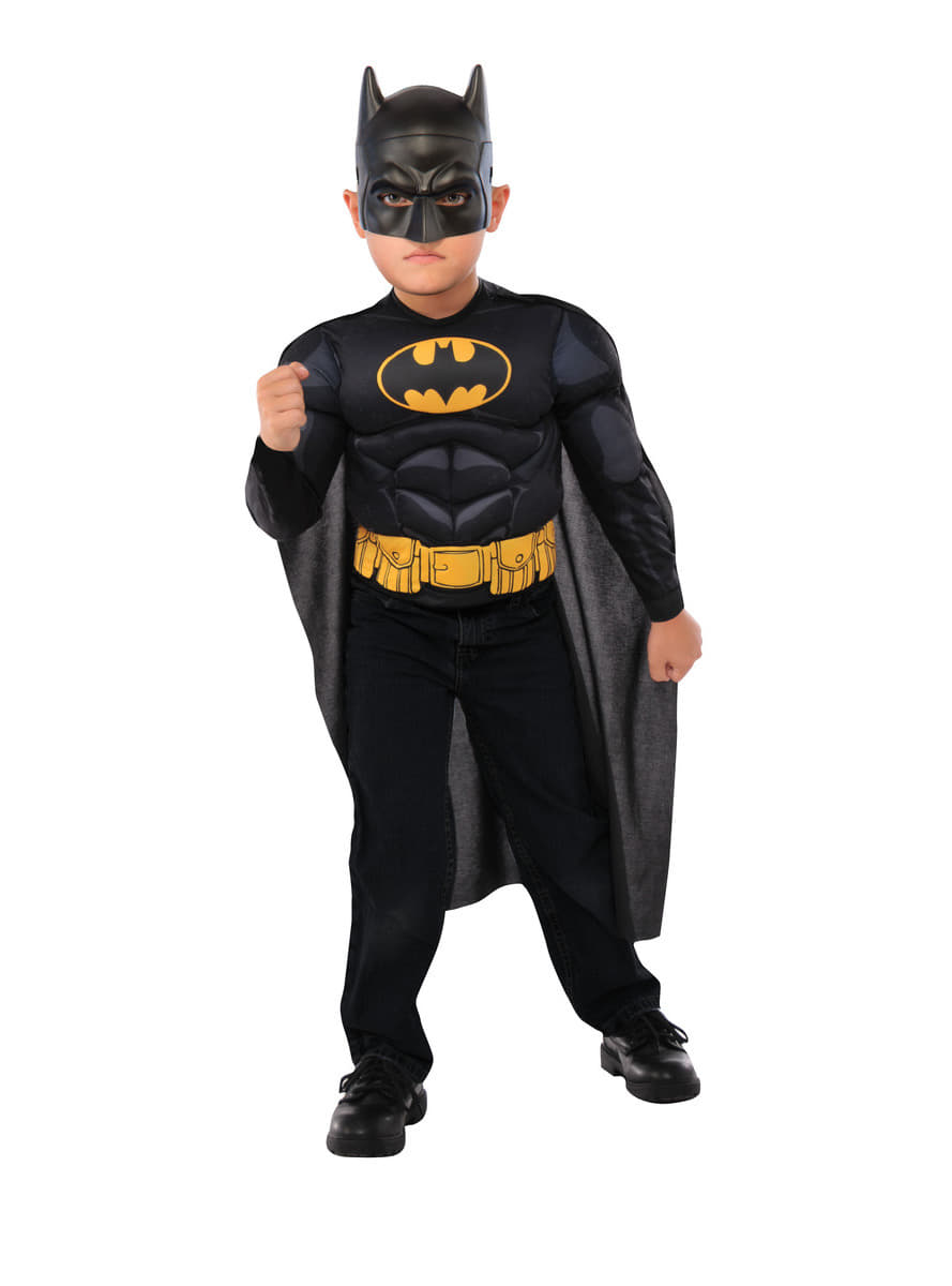 costume batman dc comics muscl enfant livraison 24h funidelia. Black Bedroom Furniture Sets. Home Design Ideas