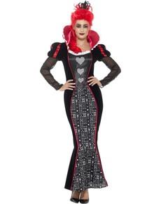 Dámský zářící Srdcová Královna kostým