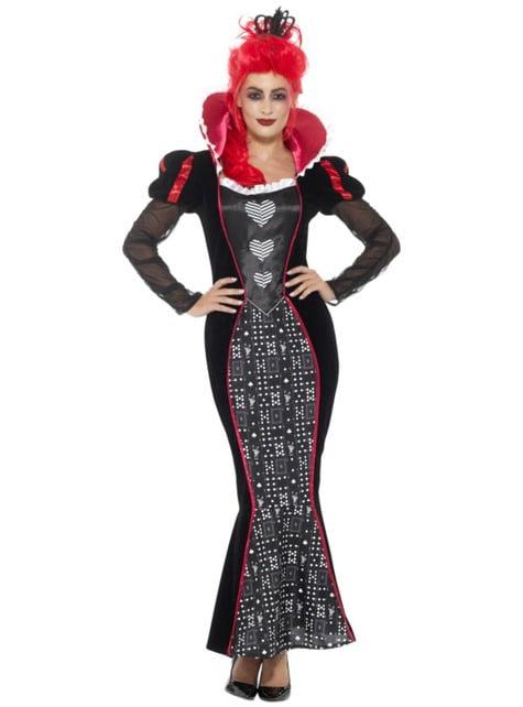 Disfraz de Reina de corazones imponente para mujer