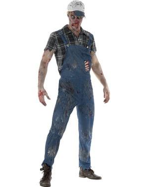 Fato de operário zombie para homem