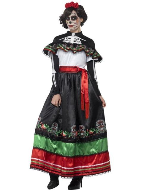 Disfraz de Señorita Catrina día de los muertos para mujer