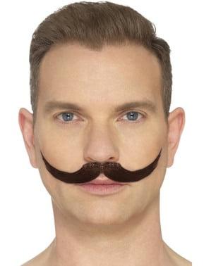 Kastanienfarbener Schnurrbart eines Dompteurs für Männer