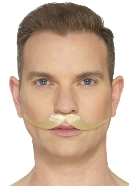 Adults Blonde Ring Master moustache