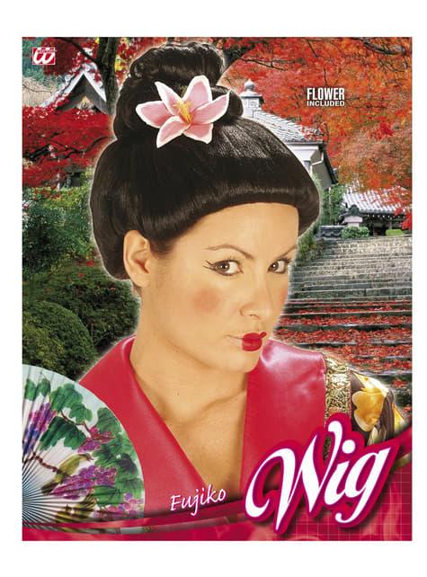 Peluca japonesa moño - para tu disfraz