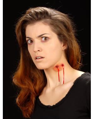 Maquillage morsure de vampire