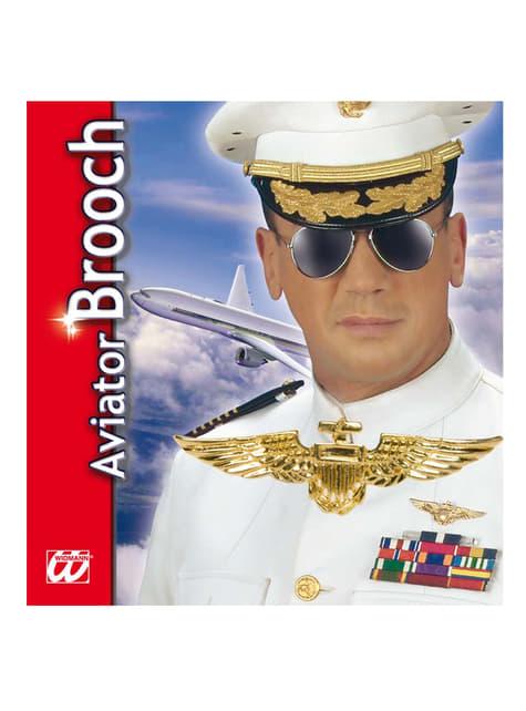 Piloten Brosche