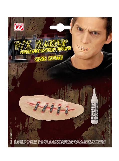 Make up zaszyte usta