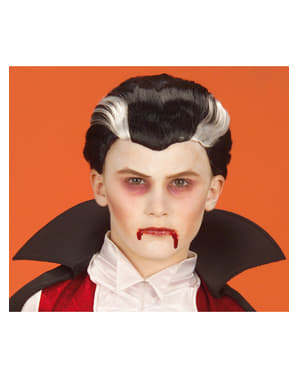 Peluca de vampiro para niño