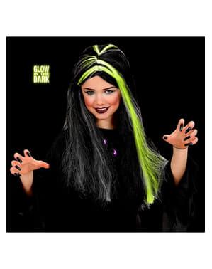 Boszorkány paróka lányoknak