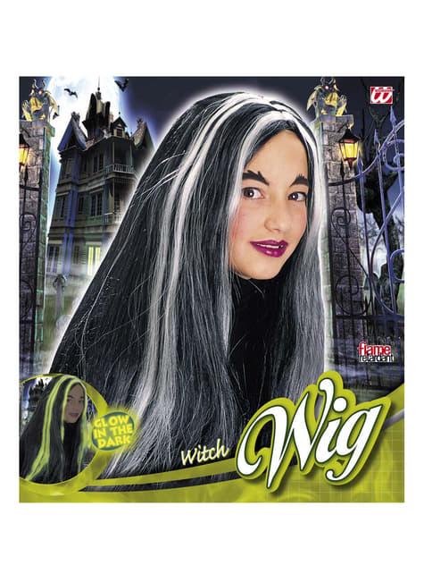 Peruca bruxa menina