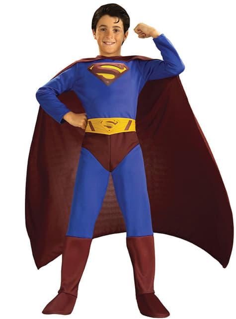 Fato de Super-Homem returns para menino