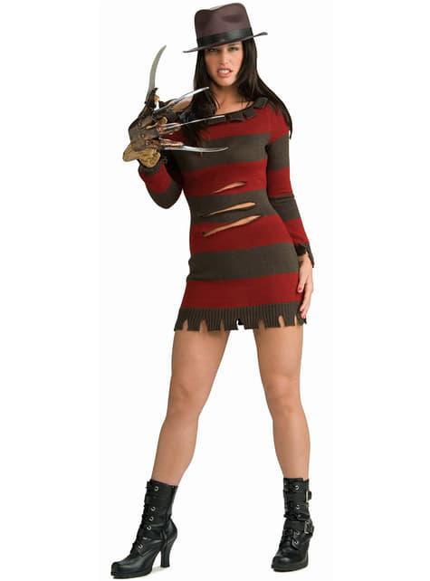 Sexy Miss Krueger Kostyme Voksen
