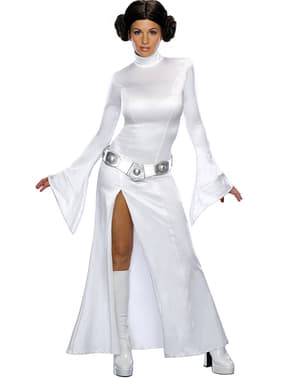 Costum de Prințesa Leia albă sexy