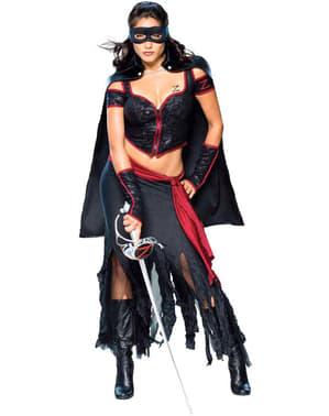 Sexy Zorro Kostyme Voksen Dame