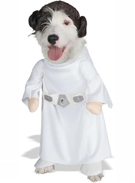 Prinses Leia kostuum voor honden