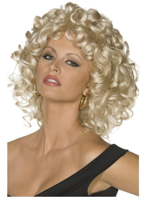 Peruka blond Sandy scena końcowa Grease