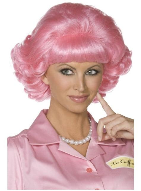 Frenchy Grease Perücke rosa