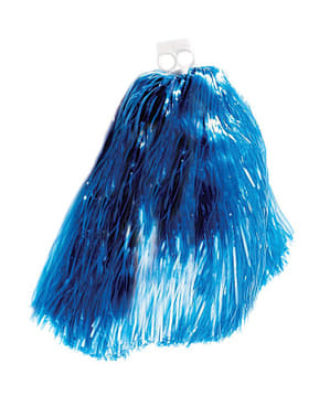 Sininen pompom-huiska