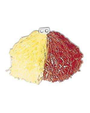 Pompon jaune et rouge