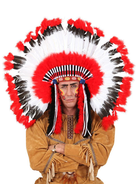 Plumas Jefe Indio - para tu disfraz